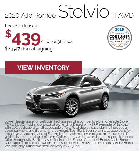 Alfa Romeo Stelvio Lease Special