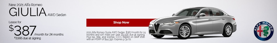 New 2021 Alfa Romeo Giulia AWD Sedan