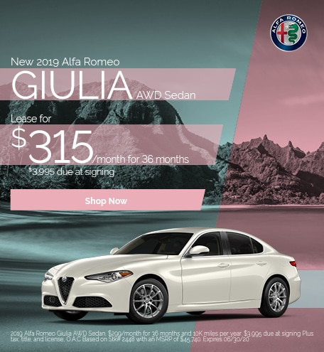 New 2019 Alfa Romeo Giulia AWD Sedan