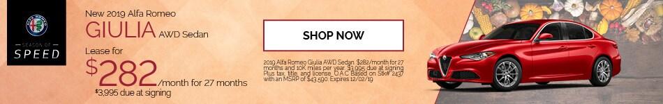 November Giulia Lease Offer