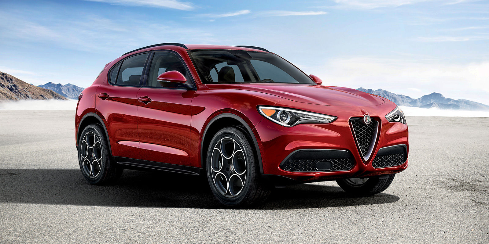 2018 Alfa Romeo Stelvio Red Front Exterior