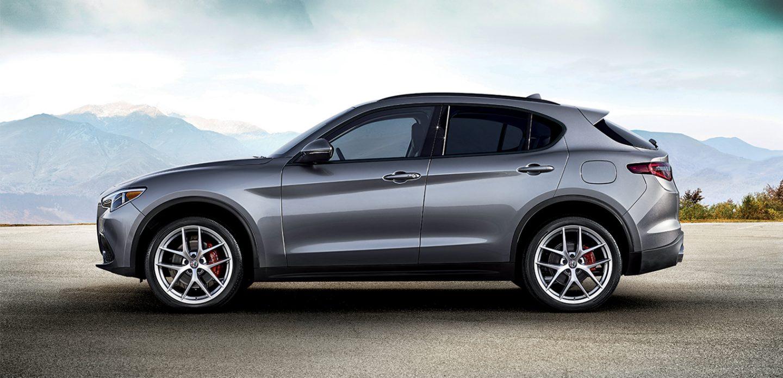 2018 Alfa Romeo Stelvio Gray Exterior Side Profile