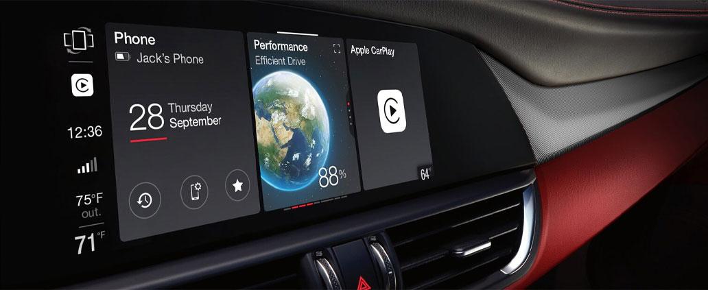 2021 Alfa Romeo Giulia Infotainment Screen