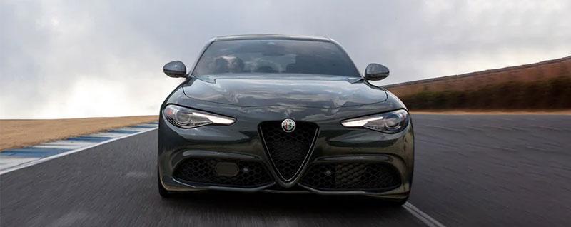 Front of 2021 Alfa Romeo Giulia