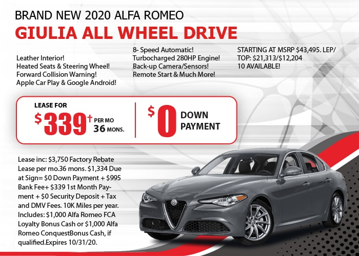 Alfa Romeo Giulia Deal - October 2020