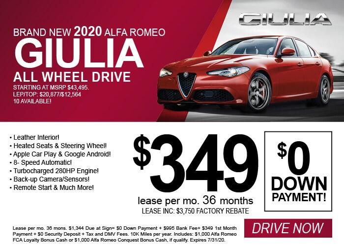 Alfa Romeo Giulia AWD July 2020