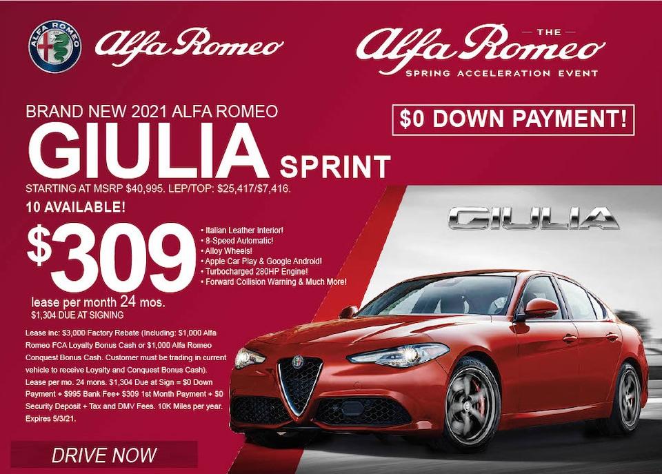 Alfa Romeo Giulia AWD - April 2021