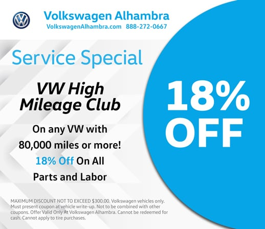 Volkswagen Alhambra service special offer for high mileage VWs