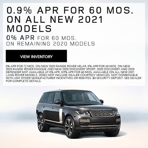 0.9% APR For 60 Mos. On All New 2021 Models
