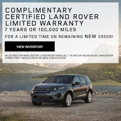 Complimentary Certified Land Rover Limited Warranty