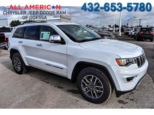 New 2018 Jeep Grand Cherokee Suv Limited Rwd Bright White For