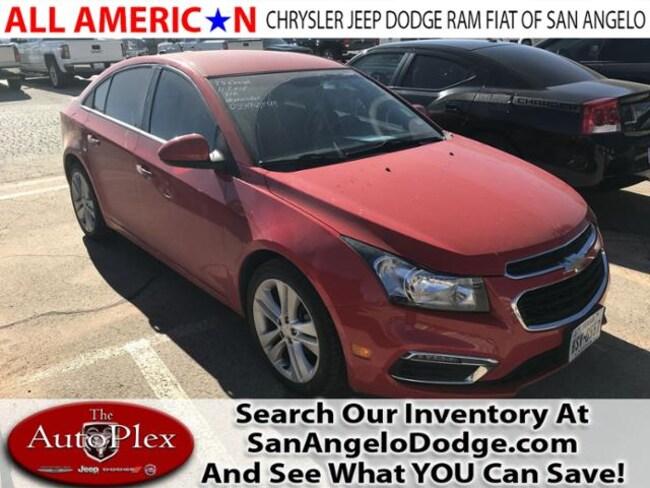 Used 2015 Chevrolet Cruze LTZ Sedan San Angelo, TX