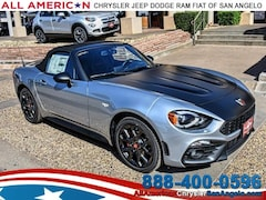 New 2018 FIAT 124 Spider ABARTH Convertible San Angelo, TX