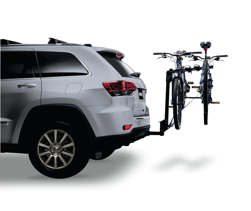 Hitch Mount Bike Carrier on a Jeep Grand Cherokee