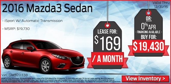 Mazda Lease Deals >> Mazda Lease Deals Nj New Mazda Lease Specials At All