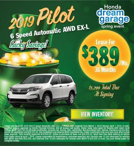 2019 Pilot 6 Speed Automatic AWD EX-L