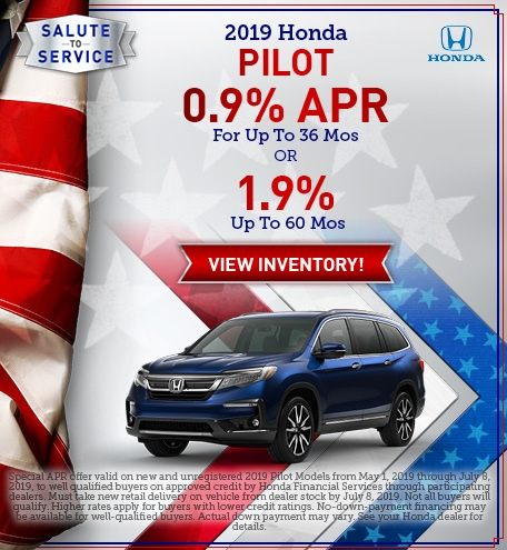 New 2019 Honda Pilot