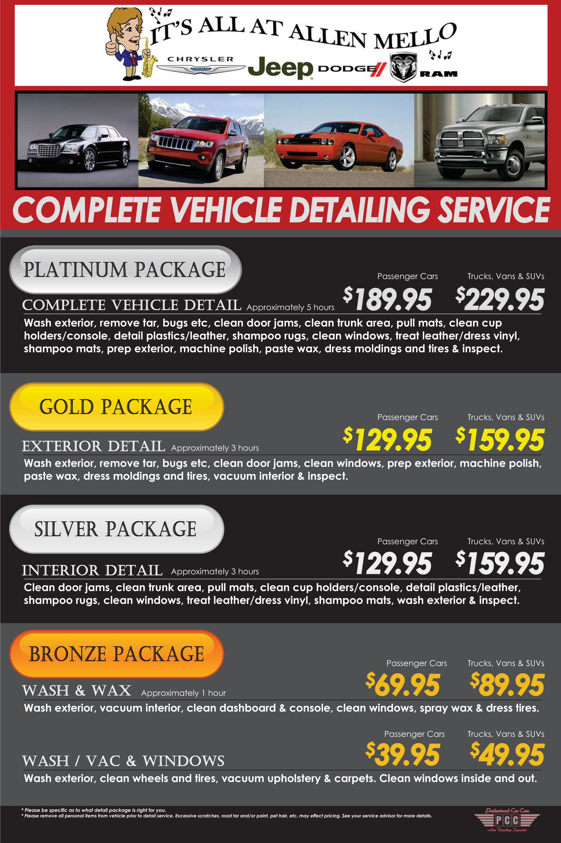 Vehicle detailing nashua allen mello chrysler jeep dodge - Vehicle interior cleaning service ...
