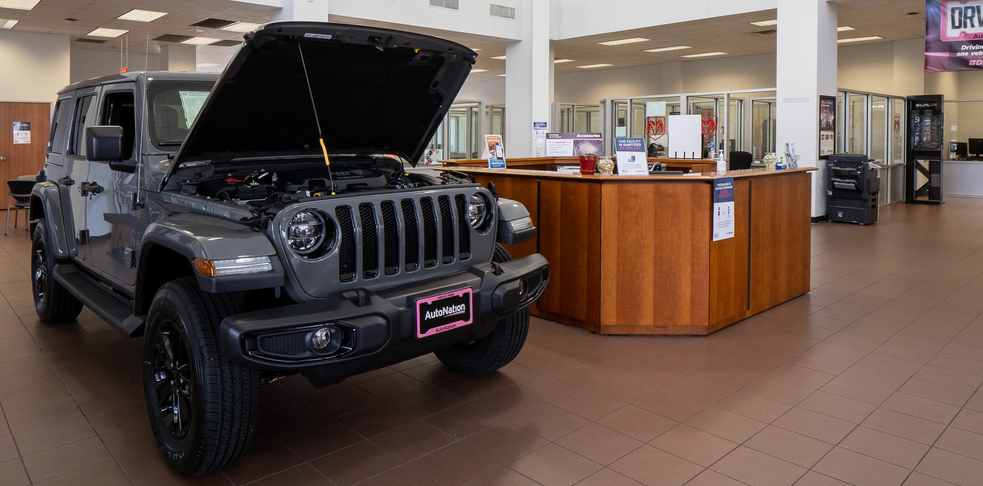 Interior view of Autonation Chrysler Dodge Jeep Ram North Fort Worth