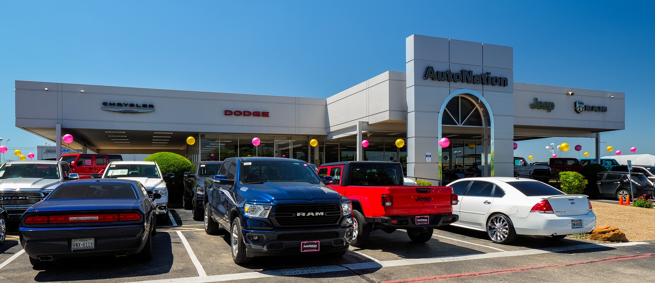 Exterior view of Autonation Chrysler Dodge Jeep Ram North Richland Hills