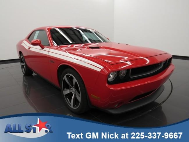 Certified Pre-owned 2014 Dodge Challenger R/T Coupe for sale in Denham Springs, LA