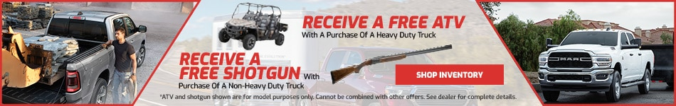 Free ATV/Shotgun With purchase of Select Ram Trucks
