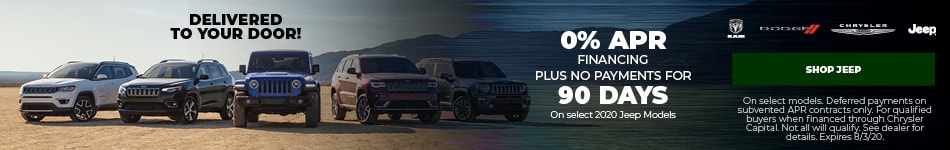 New 2020 Jeep | 0% APR Plus No Payments for 90 Days