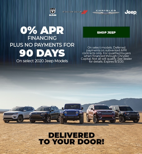 New 2020 Jeep   0% APR Plus No Payments for 90 Days
