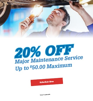 Major Maintenance Service Up to $50.00