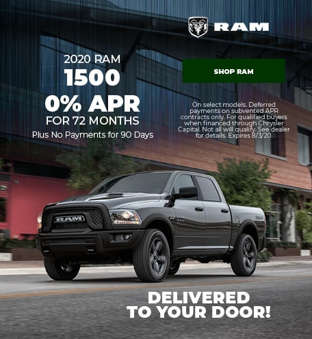New 2020 RAM 1500   0% APR for 72 Months