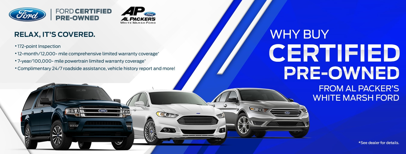 Why Buy Certified Pre-Owned from Al Packer's White Marsh Ford