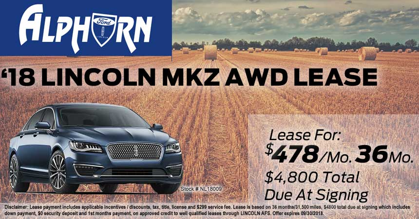 Lincoln Mkz Lease Special Alphorn Ford