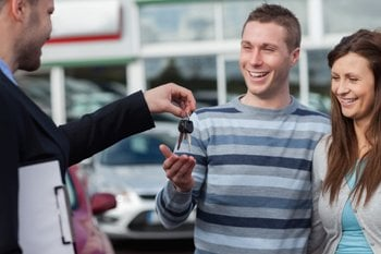 Couple gets keys to car
