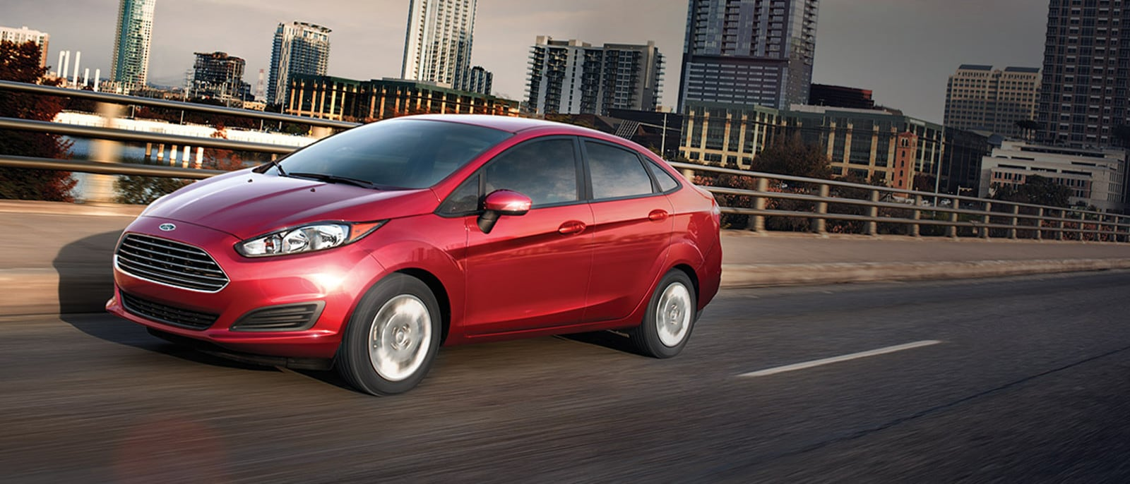 2016 Ford Fiesta on road