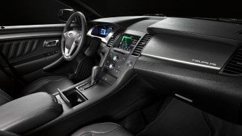 2016 Ford Taurus SEL Front Interior in Charcoal Black