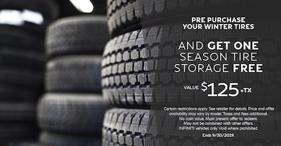 Purchase Your Winter Tires & Get One Free Season of Storage!