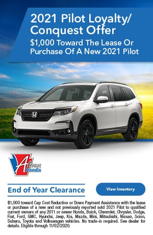 2021 Honda Pilot - Loyalty Offer