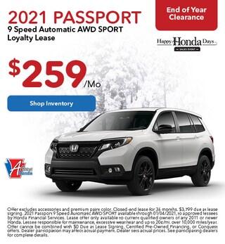 2021 Honda Passport - Lease