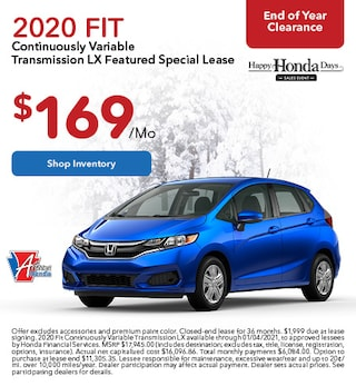 2020 Honda Fit - Lease