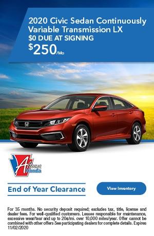 2020 Honda Civic - Lease