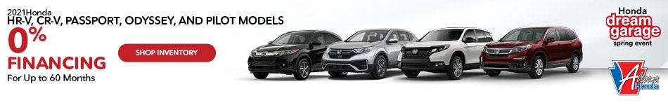 2021 Honda HR-V, CR-V, Passport, Odyssey, and Pilot Models - April