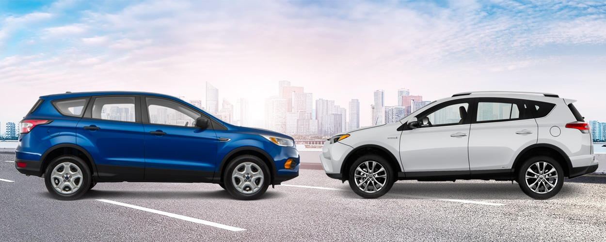 Used 2017 Ford Escape vs 2017 Toyota RAV4 In Ames