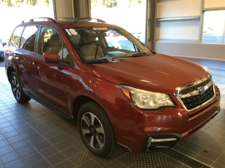 Used 2018 Subaru Forester 2.5I PREMIUM W/ EYESIGHT BLIND SPOT RCTA SRF SUV in North Smithfield near Providence