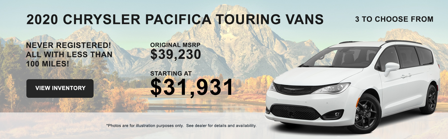 Buy 2020 Chrysler Pacifica Touring Vans starting at $31,931