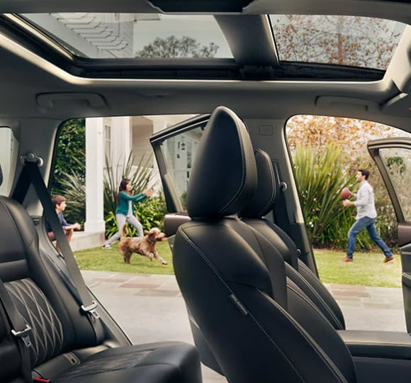 The panoramic sunroof in the 2021 Rogue