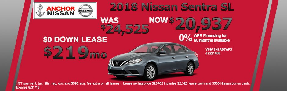2018 Nissan Sentra Offer From Anchor Nissan