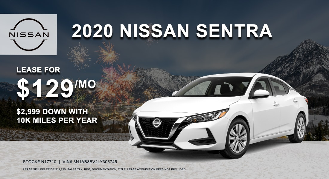 Lease a 2020 Nissan Sentra for $129/month