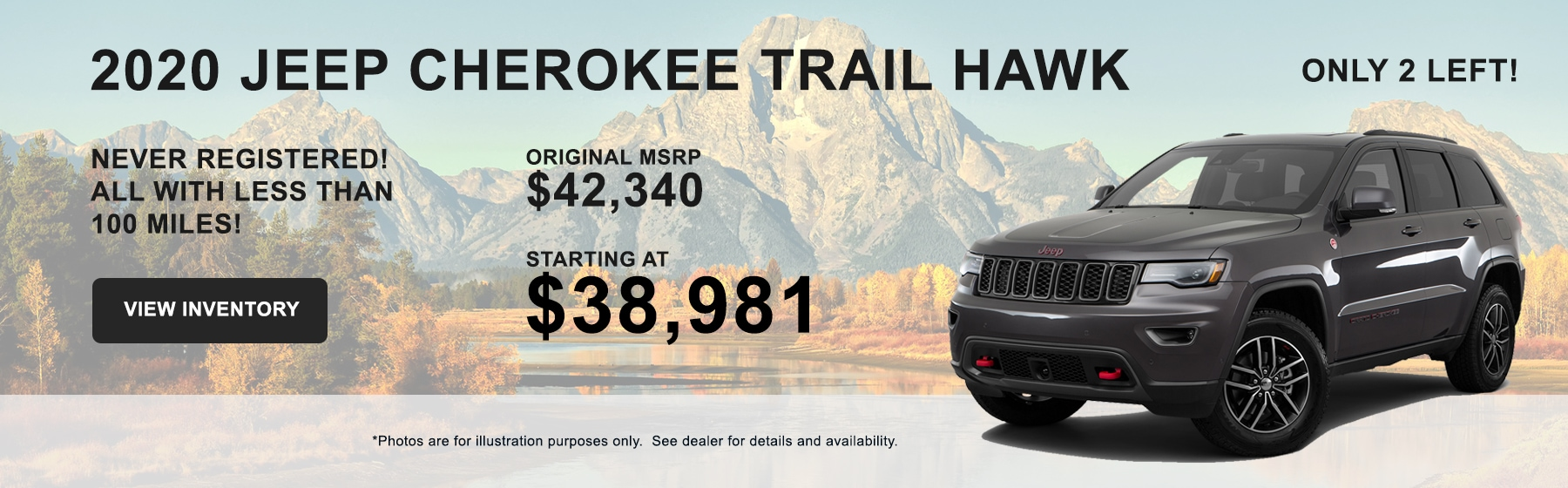 Buy a 2020 Jeep Cherokee Trail Hawk starting at $38,981