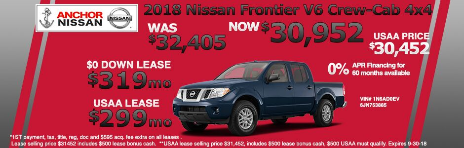 New 2018 Anchor Nissan