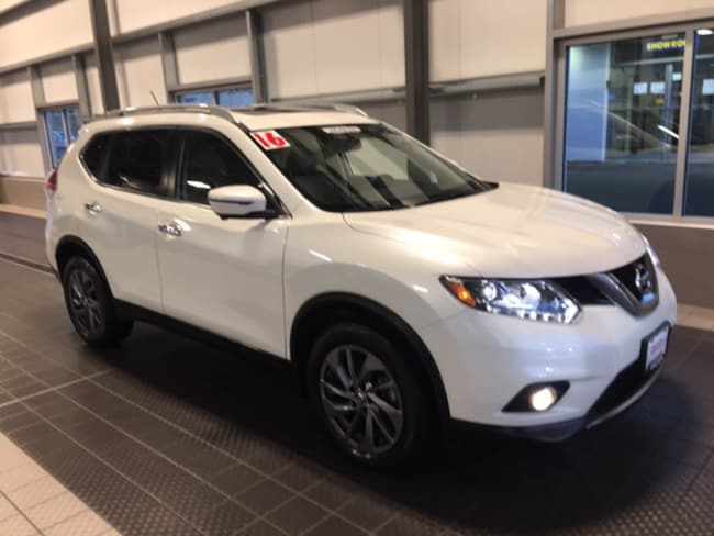 Used 2016 Nissan Rogue SL AWD W/ NAVIGATION MOON ROOF BLIND SPOT PRG SUV in North Smithfield near Providence